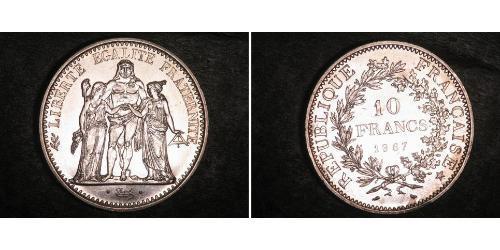 10 Franc Quinta República Francesa (1958 - ) Plata
