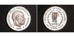 10 Franc Cote dIvoire Silber
