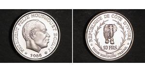 10 Franc Cote dIvoire Silver