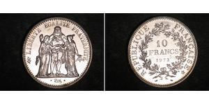 10 Franc French Fifth Republic (1958 - ) Silver