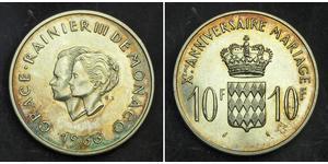 10 Franc Monaco Silver
