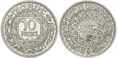 10 Franc Maroc