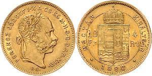 10 Franc / 4 Forint 奥匈帝国 (1867 - 1918) 金 弗朗茨·约瑟夫一世 (1830 - 1916)