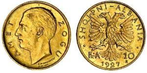 10 Franga Ari Албания Золото Zog I, Skanderbeg III of Albania