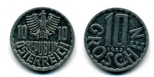 10 Grosh Allied-occupied Austria (1945-1955) Aluminium