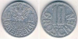 10 Grosh Republic of Austria (1955 - ) Aluminium