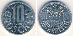 10 Grosh Republik Österreich (1955 - ) Aluminium