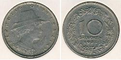 10 Grosh First Austrian Republic (1918-1934) Copper/Nickel