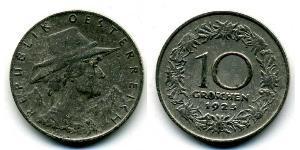 10 Grosh First Austrian Republic (1918-1934) Copper/Nickel