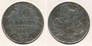 10 Grosh Russian Empire (1720-1917) / Kingdom of Poland (1815-1915) Silver Nicholas I of Russia (1796-1855)