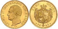 10 Gulden Grand Duchy of Hesse (1806 - 1918) Gold Louis II, Grand Duke of Hesse