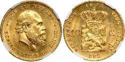 10 Gulden Königreich der Niederlande (1815 - ) Gold