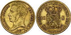 10 Gulden Königreich der Niederlande (1815 - ) Gold William I of the Netherlands (1772 - 1843)