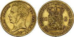 10 Gulden Kingdom of the Netherlands (1815 - ) Gold William I of the Netherlands (1772 - 1843)