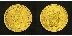 10 Gulden Kingdom of the Netherlands (1815 - ) Gold Wilhelmina of the Netherlands (1880 - 1962)