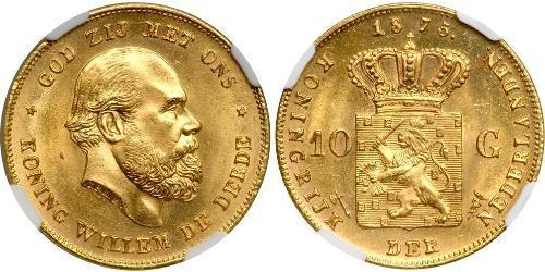 10 Gulden Kingdom of the Netherlands (1815 - ) Gold