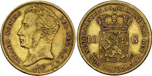 10 Gulden Kingdom of the Netherlands (1815 - ) Gold William I of the Netherlands (1772 - 1843)