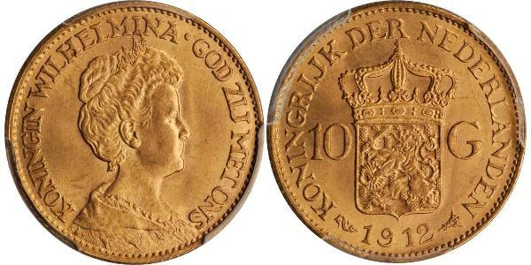 10 Gulden Kingdom of the Netherlands (1815 - ) Gold Wilhelmina of the Netherlands (1880 - 1962)