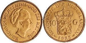 10 Gulden Royaume des Pays-Bas (1815 - ) Or Wilhelmine (reine des Pays-Bas)(1880 - 1962)