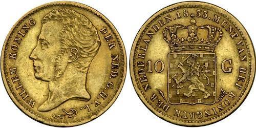 10 Gulden Royaume des Pays-Bas (1815 - ) Or William I of the Netherlands (1772 - 1843)