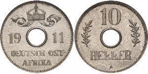 10 Heller German East Africa (1885-1919) 銅/镍