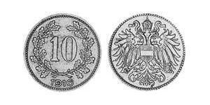 10 Heller 奥匈帝国 (1867 - 1918) 銅/镍/Zinc 弗朗茨·约瑟夫一世 (1830 - 1916)