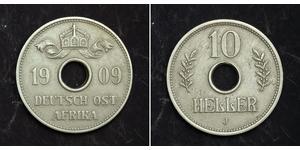 10 Heller German East Africa (1885-1919) Copper/Nickel