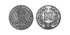 10 Heller Autriche-Hongrie (1867-1918) Cuivre/Zinc/Nickel Franz Joseph I (1830 - 1916)
