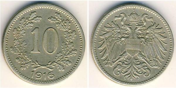 10 Heller Österreich-Ungarn (1867-1918) Kupfer/Zink/Nickel Franz Joseph I (1830 - 1916)