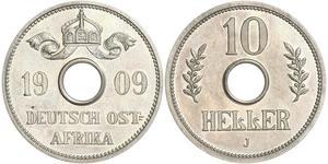 10 Heller África Oriental Alemana (1885-1919) Níquel/Cobre
