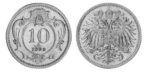 10 Heller Österreich-Ungarn (1867-1918) Nickel Franz Joseph I (1830 - 1916)