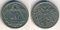10 Heller Impero austro-ungarico (1867-1918) Rame/Nichel