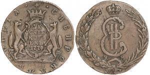 10 Kopeck 俄罗斯帝国 (1721 - 1917) 銅 叶卡捷琳娜二世 (1729-1796)