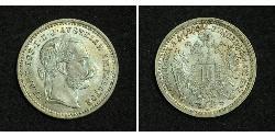 10 Kreuzer 奥匈帝国 (1867 - 1918) 銀 弗朗茨·约瑟夫一世 (1830 - 1916)