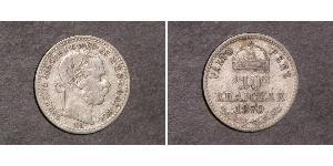 10 Kreuzer Royaume de Hongrie (1000-1918) / Autriche-Hongrie (1867-1918) Argent Franz Joseph I (1830 - 1916)