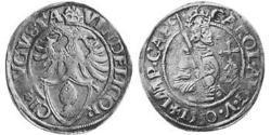 10 Kreuzer Augusta (Germania) (1276 - 1803) Argento Carlo V del Sacro Romano Impero (1500-1558)