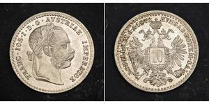 10 Kreuzer Austria-Hungary (1867-1918) Silver Franz Joseph I (1830 - 1916)