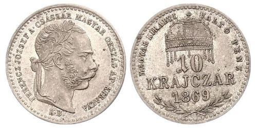 10 Kreuzer Kingdom of Hungary (1000-1918) / Austria-Hungary (1867-1918) Silver Franz Joseph I (1830 - 1916)