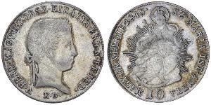 10 Kreuzer Kingdom of Hungary (1000-1918)  Ferdinand I of Austria (1793 - 1875)