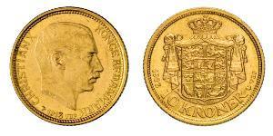 10 Krone 丹麦 金 克里斯蒂安十世 (1870 - 1947)