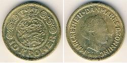 10 Krone Denmark Bronze/Aluminium Margrethe II of Denmark (1940-)