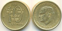 10 Krone Schweden Bronze/Aluminium