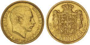 10 Krone Dänemark Gold Christian X. (1870 - 1947)