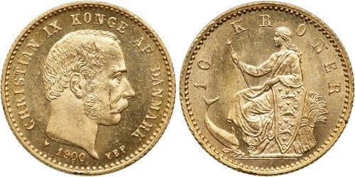 10 Krone Denmark Gold Christian IX of Denmark (1818-1906)