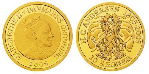 10 Krone Denmark Gold