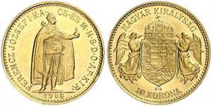 10 Krone Königreich Ungarn (1000-1918) Gold Franz Joseph I (1830 - 1916)