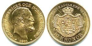 10 Krone Sweden Gold Oscar II of Sweden (1829-1907)