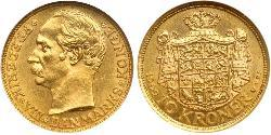 10 Krone Dinamarca Oro Federico VIII de Dinamarca (1843 - 1912)