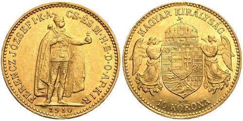 10 Krone Reino de Hungría (1000-1918) Oro Franz Joseph I (1830 - 1916)