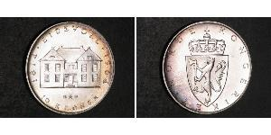 10 Krone Kingdom of Norway (1905 - ) Silver Olav V of Norway (1903 - 1991)